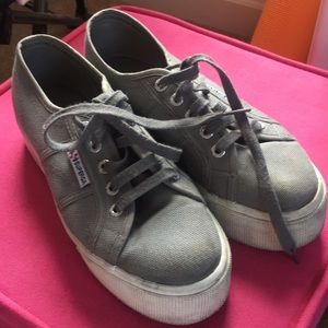 Gray Superga Sneakers